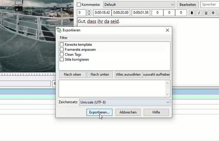 srt-Datei Anleitung